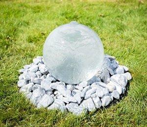 Paylesswithss Sphère à débordement 30 cm avec lumières changeantes et télécommande