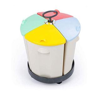 Poubelle avec poulie de poubelle, récipient portable revêtu de plastique 45 x 5 x 58 2 cm