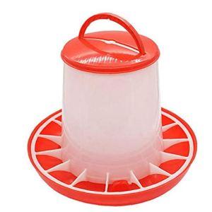 Romote Feeder Plastique Alimentaire Accueil Poulet Poule Feeders volaille avec Couvercle poignée Bucket Chiens Chats Bol et saladier Distributeur Type d'animal 1,5 kg
