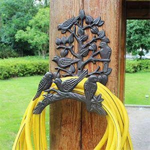 Sikungjlk Support de Tuyau Cast Heavy Duty Support de Fer Tuyau Mural Tuyau Butler Tuyau d'eau Maintient Rack Hanger Butler de Tuyau Mural (Color : Brown, Size : 31x15x23cm)