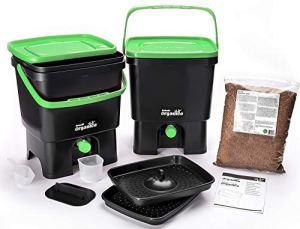 Skaza – mind your eco Composteur de Cuisine, Noir/Vert, 3,5Gallon