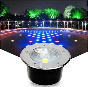 Spot De Sol LED, Lampe Souterraine Imperméable Extérieure Lumière Souterraine De Jardin De Villa De Jardin De Villa De Communauté (Color : Yellow-18W)