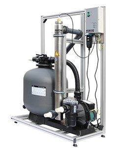 Système de filtration PURION 80 avec système UVC pour piscine jusqu'à 90m³ Fabriqué en Allemagne avec surveillance à vie