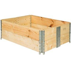 TecTake Cadre pour plate-bande surélevée de jardin pliable en bois potager 120x80x19cm – diverses quantités – (2x Cadre plate-bande | no. 402271)
