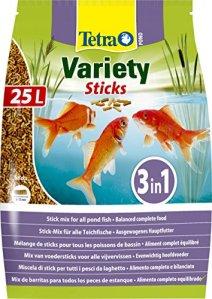 TETRA Pond Variety Sticks – Aliment Complet en sticks pour Poisson de Bassin – 25L