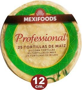 Tortilla de Maíz Amarillo Prisma 25 unidades de 12 cm