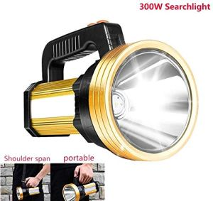 U & TE Portable Camp Lumière, Lanterne d'urgence Lumière, Tente Lumière, lampe de poche LED, intégrée 7200mAh puissante lampe de poche LED Spotlight Handed USB portable rechargeable torche LED avec Se