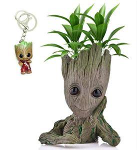 Udream Pot à Fleurs ou à stylos en Forme de Personnage de Dessin animé, Cadeau de Noël pour Enfants