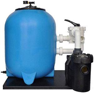 well2wellness OKU Système de Filtre à Sable Grenada Ø900 mm avec Pompe à Filtre Speck Badu Prime 30 pour piscines jusqu'à Environ 150m³