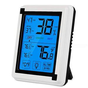 Zorara Thermomètre Hygromètre Intérieur, Mini Thermometre Interieur, Température Humidité Numérique Électronique avec LCD Écran, Petit Portable pour Le Domicile Thermo Hygromètre