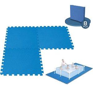 8 Dalles Tapis de Sol modulable pour piscine – 50 cm x 50 cm