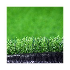 ALGWXQ Gazon Artificiel Résistant À l'usure Protection Environnementale Entretien Facile Arrière-Cour Terrain Football École Fausse Herbe, Vert, 5 Épaisseurs (Color : Green, Size : 2x50m 4cm)