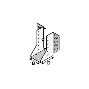 Alsafix – 25 sabots de charpente à ailes extérieures (P x l x H x ép) 80 x 160 x 230 x 2,5 mm – AL-SE160230 – Alsafix