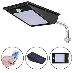 AMTSKR Applique solaire 81 LED pour rue avec poteau