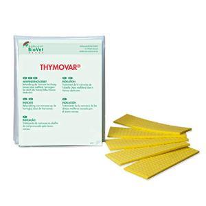 APIFORMES THYMOVAR Lot de 2 Paquets de 5 Planches pour Abeilles pour Abeilles Varroa Traitement de Varroabete BioVet Thymol