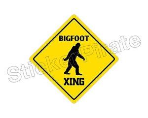 Bigfoot Crossing Funny Aluminium plaque métal Signes Boîte signalisation vintage plaques Signs decorative plaque
