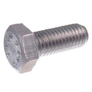 Boulon hexagonal SECCARO M6 x 20 mm, acier inoxydable V2A VA A2, DIN 933 / ISO 4017, hexagone extérieur, 20 pièces