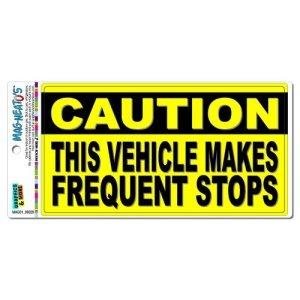 Caution véhicule rend Fréquentes Bloque en aluminium plaque métal Signes Boîte signalisation vintage plaques Signs decorative plaque