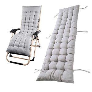 Chaise longue de jardin avec coussin épais