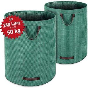 Deuba 2X Sacs de déchets de Jardin Vert 280 L Charge Max 50 kg et 3 poignées par Sac