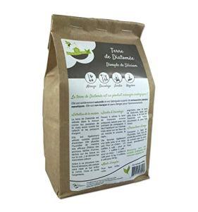 Eco-conseils® – Terre de diatomée alimentaire 1Kg à 20kg- Protecteur et insecticide alimentaire biologique – Emballage 100% écologique … (1kg)