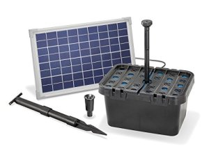 Esotec 101066 Kit pompe solaire bassin ou fontaine avec filtre 610l/h 10W Pour bassin jusqu'à 2000l