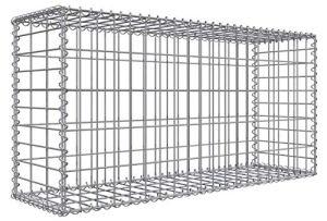 Gabion pour Pierres 100x50x30 cm Gabions Métalliques Déco Jardin Cage métallique réticulé 5x10cm Diamètre fil de fer 4 mm Gabion avec Spiral GALVANISÉ