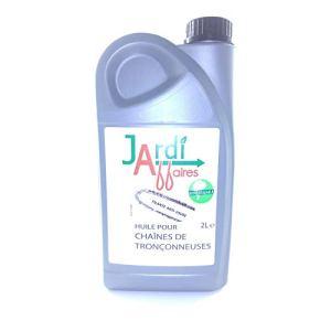 Huile pour chaîne de tronçonneuse Biodégradable Jardiaffaires 2 litres