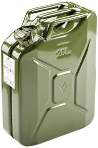 Jerricane stahlbl. rétroviseurs de 20l + TÜV GS + un. Olive