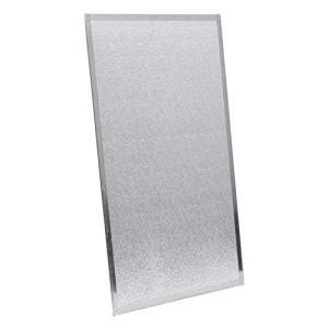 Kamino-Flam Plaque de Protection Murale pour Poêle 80 x 50 cm, Écran d'Isolation Thermique jusqu'à 1100°C Sans Amiante Cadre en Acier