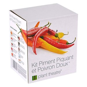 Kit Piment Piquant et Poivron Doux par Plant Theatre – 6variétés différentes à cultiver soi-même – Idée cadeau