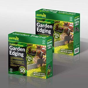 Lot de 10Gris foncé Pave de bordure de pelouse Jardin Effet Pierre de bordure–Marteau simplement dans