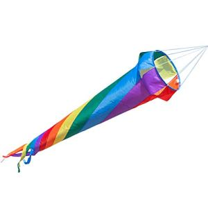 Manche à air – Windturbine 150 RAINBOW – résiste aux intempéries – Ø35cm, Longueur : 150cm – incl. émerillon à roulement à billes