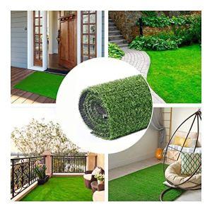 NINGWXQ Gazon Synthétique Artificiel Paysage Bricolage Decor (Lawn), Jardin, Terrasse, Balcon, Terrain de Golf, Etc – Vert Naturel Haute Densité (Color : Green2.0cm, Size : 2×0.5m)