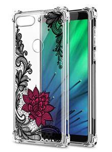 Oihxse Transparent Coque pour Xiaomi Mi 8Se Souple TPU Silicone Protection Etui Air Cushion [Shock-Absorption] [Anti-Rayures] Fleurs Motif Housse Bumper (B6)