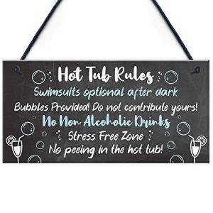 Sary buri Panneau « Hot Tub Rules » pour Jacuzzi, abri de Jardin, Maison d'été, décoration d'intérieur, Cadeau
