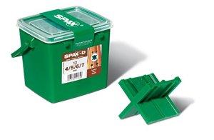Spax–Jauge à mortier pour joint 4tailles: 4/5/6 et 7mm Lot de 12dans une boîte avec poignée–5000009186209