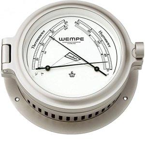 Wempe Thermomètre/Hygromètre laiton nickelé mat CUP Ø 140 mm