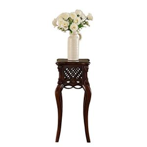 Zhna Simple américain Tout en Bois Massif Support de Salon Support de Salon européen rétro Stand de Fleur sculpté