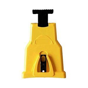 Affûteur de tronçonneuse pour tronçonneuse – Aiguiseur de chaîne rapide – Outil de meulage monté – Pour aiguiser la pierre – Support de meuleuse de chaîne – Chaîne de scie – Lame d'affûteur,jaune, 1