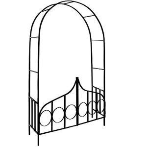 Arceau de rosier – Arcade rose lierre jardin Porte verrouillable – 240x140x40cm