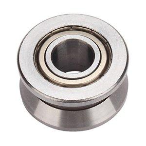 Argent 15x 40x 18mm acier V Groove à roulement à billes Rouleau Guide