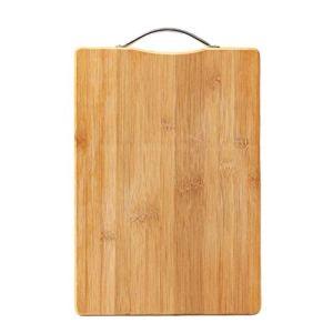 BESTONZON Planche à découper en Bambou Plats à découper et à Servir dans la Cuisine pour la préparation des Aliments, la Viande, Les légumes, Les Fruits, Les craquelins et Le Fromage (Grand Format)