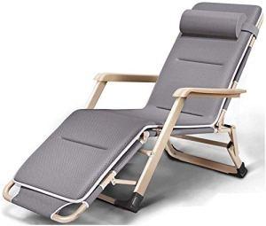 Des chaises surdimensionnées, inclinables chaises longues pour poids lourds zéro chaises gravité, chaises portables pour voyage de camping en plein air,Grey