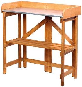 dobar 29053FSC Table à Plantes Pratique en pin FSC, Repliable, 85 x 44 x 89 cm