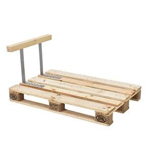 [en.casa] Appuie-bras pour canapé euro palettes massif aspect de bois DIY meuble