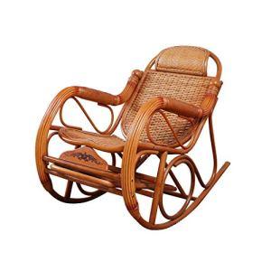 Fauteuil à bascule en rotin domestique, la pédale télescopique de coussin cadeau gratuit détend le fauteuil inclinable 1121-YY