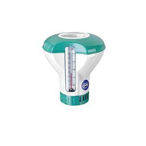 Gre DCT20 – Doseur flottant avec thermomètre pour piscines, pour pastilles de 20 g