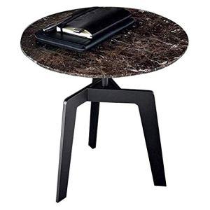HEMFV Marbre et Fer BaseSide Table Tables Basses for Tables Salon Fin Côté Robuste et Durable de l'environnement Matériel