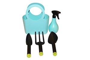 Kit Outils de jardin 5pièces en plastique bleu